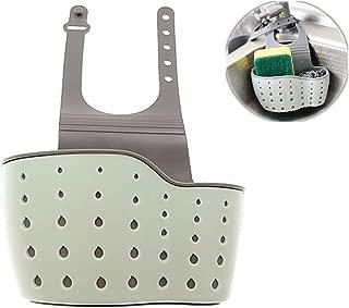 Kinteshun Kitchen Sink Caddy Sponge Holder Hang Basket for Scrubber Dish Brush Kitchen Accessories Organizer (Light blue)