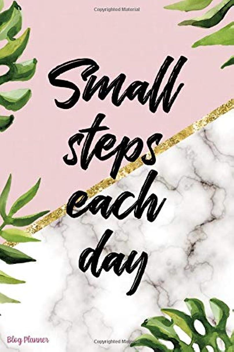 ライブ距離勝つSmall Steps Each Day: Blog Planner Notebook Journal Composition Blank Lined Diary Notepad 120 Pages Paperback Leaves