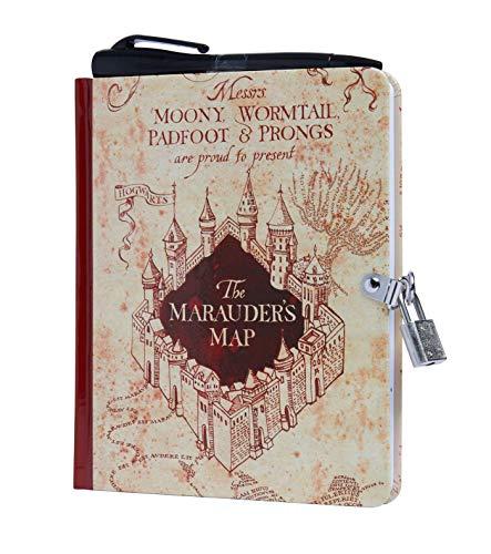 HARRY POTTER MARAUDERS MAP LOCK & KEY DIARY (Lock and Key)