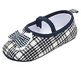 Tongyouyuan - Bebés Niñas Zapatos de Primeros Pasos Estampado con Lazo Princesa Elegante Zapatillas Antideslizantes con Puntos de Goma Anti-slip para Verano - 12-18 Meses - Negro