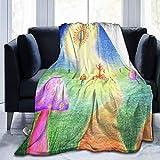 AEMAPE Manta de Setas de árbol mágico Manta de Cama Suave Manta de Franela de Coral Suave Manta de Micro Polar 153X127CM