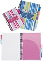 Pukka Pad Project Book Wirebound Plastic gelijnd 3-Divider 250pp 80gsm A5 Assorted Ref PROBA5 [Pack van 3]