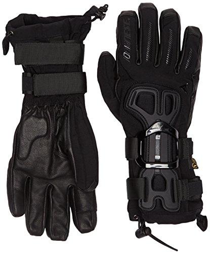 Dainese Erwachsene Skiprotektor D-Impact 13 D-Dry Gloves Snowboard Handschuhe mit Protektor, Schwarz/Carbon, M