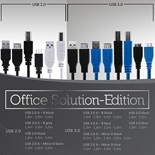 CSL - Premium USB Kabel A / B - Druckerkabel - 5m (Meter)