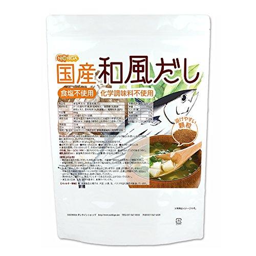 食塩無添加 国産和風だし 600g [01] NICHIGA(ニチガ) 化学調味料無添加・遺伝子組換え材料不使用