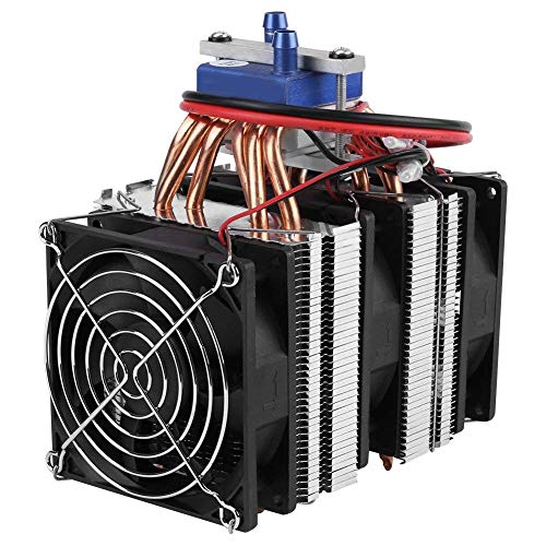 DC 12V Thermoelectric Cooler Peltier System Semiconductor Refrigeration Water Chiller Cooling Device for Fish Tank (180W for 40L Tank)