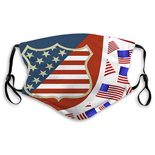 Buy NYNELSONG Safety Shield Reusable Outdoor Covers USA Symbol Reusable Cover