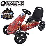 ドイツの名門ハウク・ペダル・ゴーカート<Hauck Lightning Pedal Go Kart>速く走れて機敏な操作頑丈なフレームしっかりグリップ・タイヤ 欧米のベストセラー (Speedster-Fireman Red)