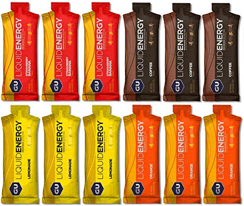 GU Liquid Energy Gel | Pack especial de prueba | 4x3 geles de 60g | Ideal para actividades físicas intensas | Gel energético de carbohidratos complejos