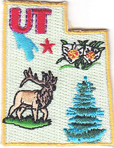 UTAH STATE SHAPE Iron On Embroidered Patch