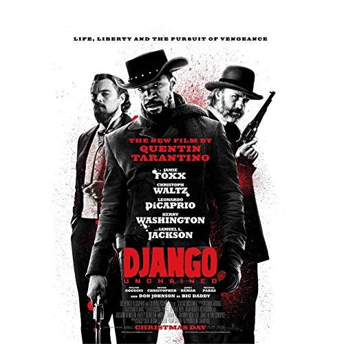 arteWOODS Django Unchained Film Wandaufkleber Poster Kunst Licht Leinwand Home Decoration Wohnzimmer Dekoration Gemälde60x80cm mit gerahmt
