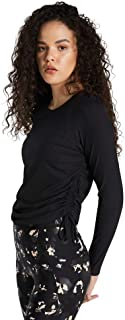 Rockwear Activewear Women's Savannah Gathered Side Top Black 14 from Size 4-18 for