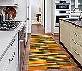 AIYOUVM Läufer Flur rutschfest Küche (108 Größen und 5 Farben) Teppich Flur Modern rutschfest Weiche Oberfläche Einfach zu Säubern, Teppichläufer für Küche Schlafzimmer Wohnzimmer 40x100cm
