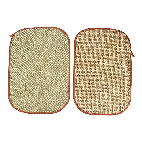 2Pcs Rabbit Grass Mat Woven Bed Mat Cushion Bunny Cooling Mat for Small Animals zabawki dla zwierząt