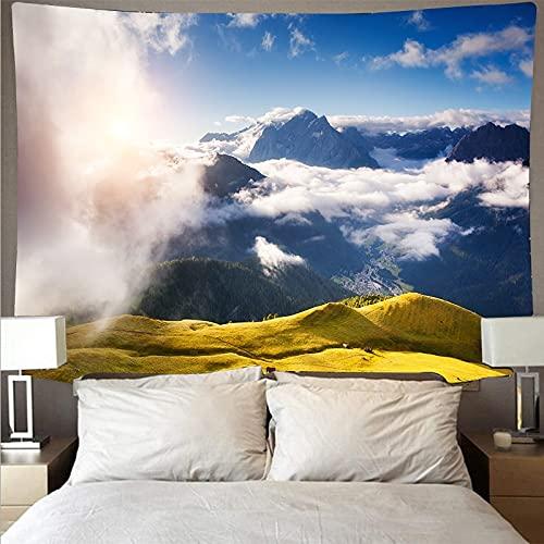 Bosque río paisaje arte tapiz psicodélico colgante de pared toalla de playa decoración de mandala manta fina tela de fondo A4 73x95cm