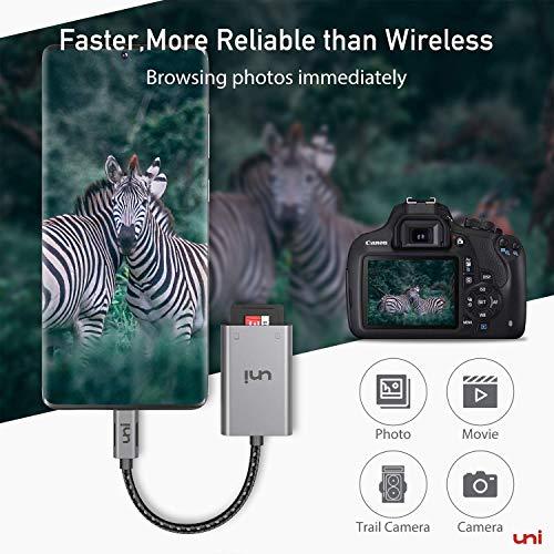 USB C auf SD/MicroSD-Kartenleser, uni SD Adapter[Thunderbolt 3], kompatibel für MacBook Pro, MacBook Air, iPad Pro, Samsung Galaxy S10 / S9 / S8, Surface Book 2 usw.