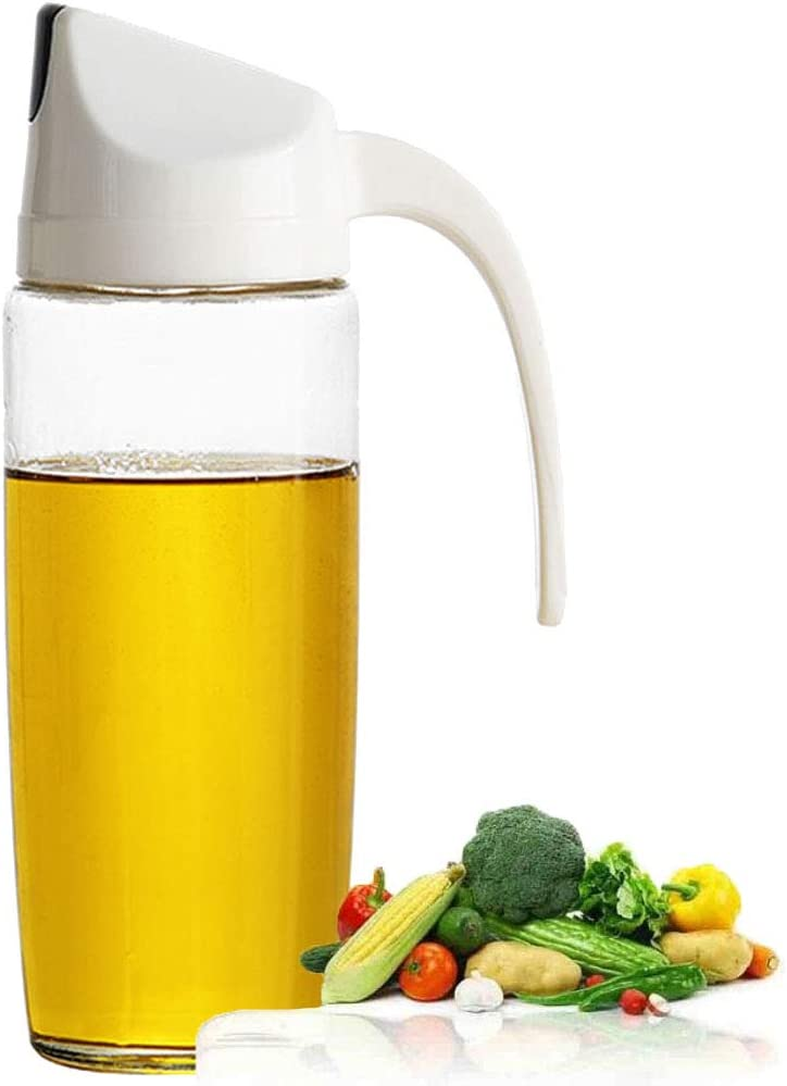 Drip Free Olive Cheap bargain Oil Dispenser Bottle Automatic Cap Max 76% OFF with Glass S