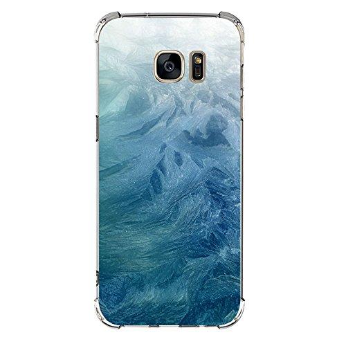 Funda Compatibles con Samsung Galaxy S6 S7 Carcasa Silicona Transparente Protector TPU Airbag Anti-Choque Ultra-Delgado Anti-arañazos Sandía Caso para Galaxy Case Caja (Galaxy S7, mármol 03)