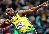 Poster Usain Bolt Pose Victoire légende Sprint Wall Art