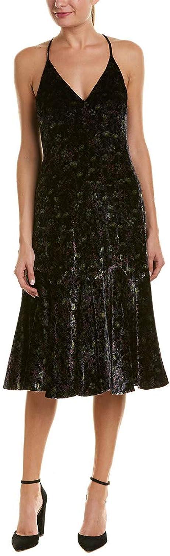 Rebecca Taylor Womens Velvet MidCalf Slip Dress