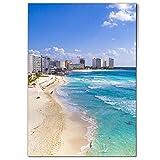 DV design 1 póster A1 – Póster de Cancun Beach México Holiday Art Paper Póster grande foto gráfica #21312
