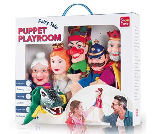 Handpuppen Set Kasperlfiguren Puppet Playroom 6 TLG
