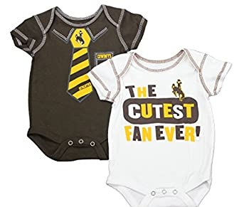 Outerstuff Wyoming Cowboys Baby Clothing University 2 Piece Creeper Apparel Set