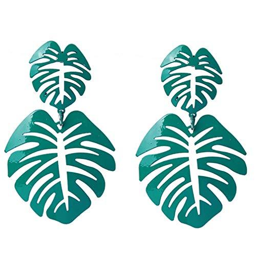 Preisvergleich Produktbild Vektenxi Frauen hohl Baum Blätter Lange Anhänger Ohrringe grün langlebig und nützlich