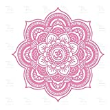 Umweltfreundliche Big Mandala Vinyl Wandtattoo Yoga Aufkleber Menhdi Lotus Große Muster Ornament Om Indische Wandhauptdekor A27 45 * 45 CM