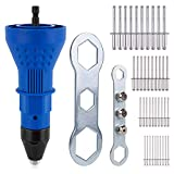 driller rivet Rivet Gun for Cordless Drill Electric Rivet Nut Gun Riveting Tool Cordless Riveting Drill...