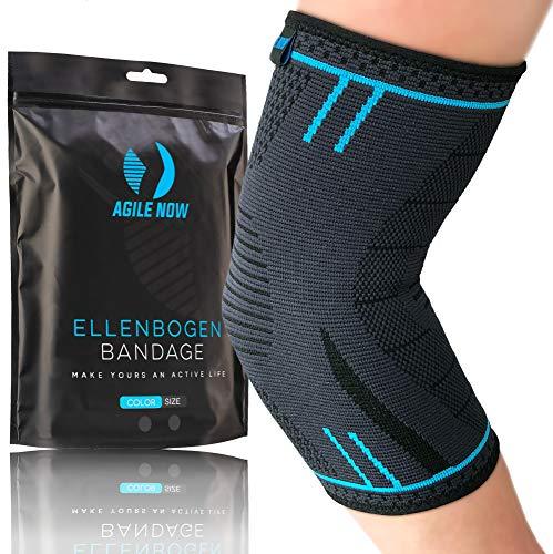 AGILE NOW Ellenbogenbandage Tennisarm Stabilisiert & Schützt für Tennis Bandage Ellbogen Bandage Ellenbogen Armbandage Herren Damen (XL)