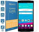 PREMYO Verre Trempé Film Protection Écran Compatible avec LG G4 Dureté 9H Bords...