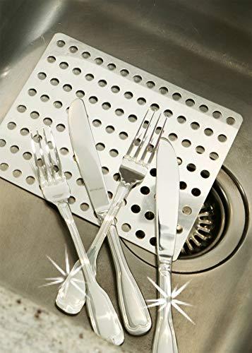 WENKO Silber-Clean Aluminiumplatte für Silber Reinigung, Gegen Flug-Rost auf Besteck und Töpfen, Spülmaschinen-geeignet