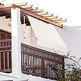 Strattore Toldo articulado con Armazón 250 x 120 cm - sin taladrar - Beige Enrollable Terraza Balcón Toldo Protector de Sol Retráctil