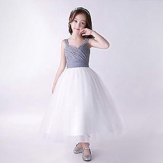 子供 ドレス ロング 結婚式 ジュニア 女の子ワンピース ピアノ 発表会 パーディー 演奏会 フォーマル フラワードレス 誕生日 お呼ばれ
