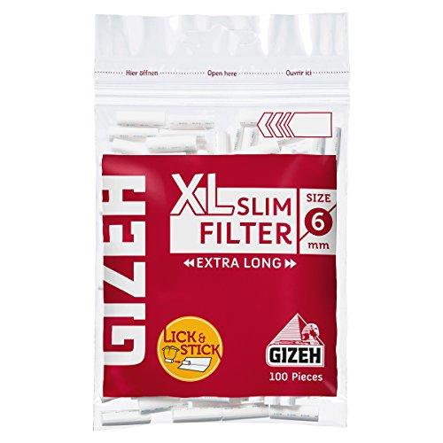 GIZEH(ギゼ)スリムXLロングフィルター(直径6mm)手巻きタバコ100個入り×5袋パック7-25012-25