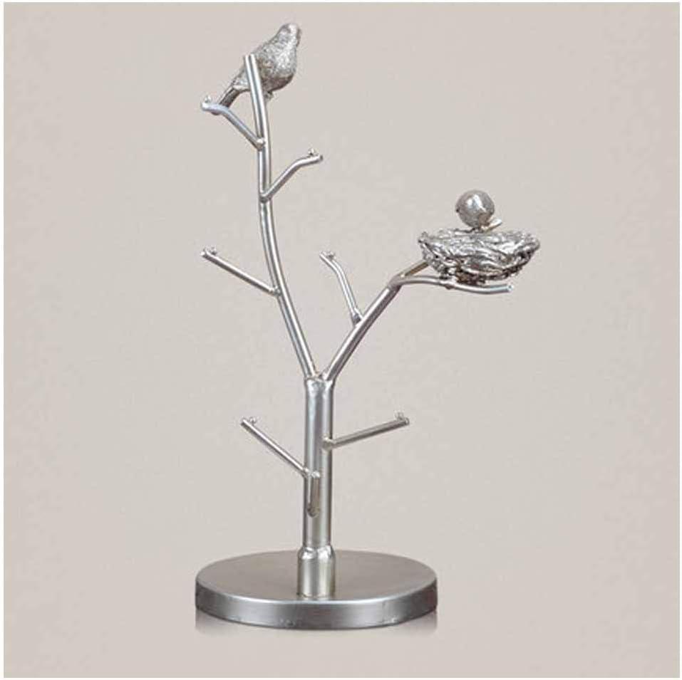 XAGB Ramita Creativa Marco de la Llave Marco de la joyería Marco de la joyería Que cuelga Decoración del Arte Sala de Estar Vinoteca Tocador artesanía Regalos (Color : Silver1)
