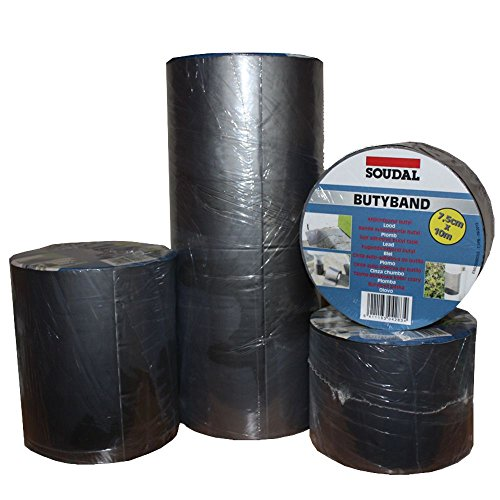 Soudal Butyband Dachreparatur Anschlussfugen Dichtband Gr. 300mm x 10m in blei / graphit -> selbstklebend, wasserdicht