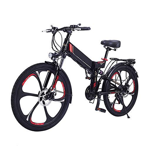 Bicicleta Eléctrica De Montaña Bicicleta Eléctrica De 26 Pulgadas Plegable con Batería...
