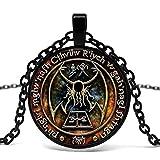 Neue Cthulhu R'Lyeh Impressum Anhänger Inspiriert Von H.P. Lovecraft Anhänger Halskette Glas Foto Cabochon Halskette
