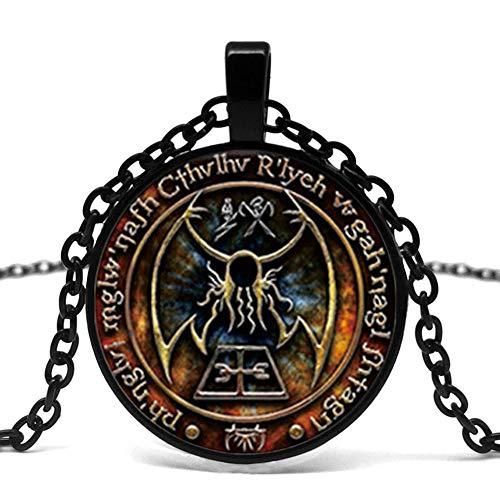 Nuevo Cthulhu R'Lyeh Impresión Colgante Inspirado Por H.P. Lovecraft Colgante Collar De Cristal Foto Cabujón Collar Collar