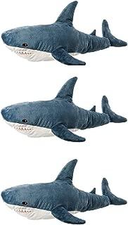 IKEA BLAHAJ Soft Toy, Shark (Pack of 3, 39 ¼