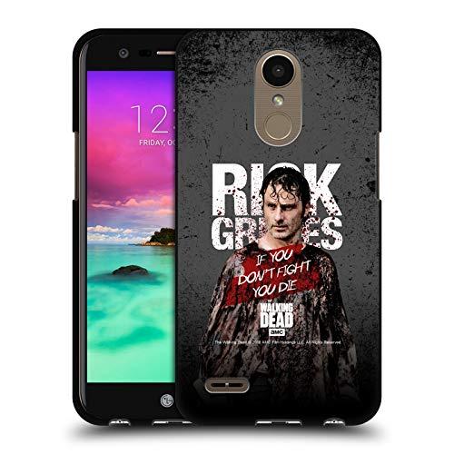 Head Case Designs Licenciado Oficialmente AMC The Walking Dead Poncho Sangriento Legado de Rick Grimes Funda de Gel Negro Compatible con LG K10 (2017) / K20 Plus