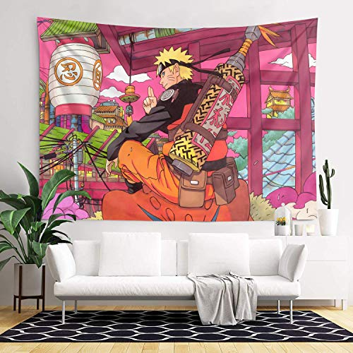 Lumumanber Naruto Tapestry Anime Tapestry for Bedroom Decor 3D Printed Shippuden Itachi Posters for Walls Backdrop Gifts for Boys Birthday Party 60x82Inch