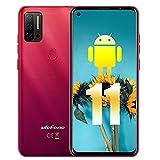 Ulefone Note 11P (2021), Teléfono Móvil Libre Android 11, Helio P60, 6.55' HD+ Water-Drop Screen, P60 Octa-Core 8 GB + 128 GB, Cámara Cuádruple de 48 MP + 8 MP, SIM Dual, Batería de 4500mAh, Rojo