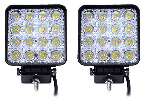 SLPRO® 2 X LED 48W Arbeitsscheinwerfer Arbeitsleuchte 3800lm 6000K 67IP Rückfahrscheinwerfer -- Traktor -- Bagger