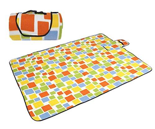 Tapis de pique-nique en extérieur – Ouvrant épais coussin Camping Plage Imperméable -- couleur