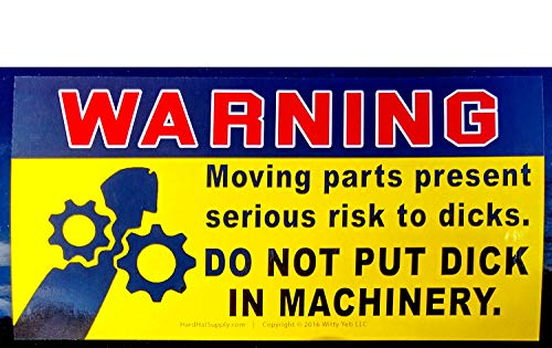 Dont Put Dick in Machinery Prank Warning Decal 10 Pack. Funny Rude Stickers Save Your Friends from Enticing & Risky Temptations Like Wood Chippers, Coffee Grinders, Pencil Sharpeners, ATVs & Much More