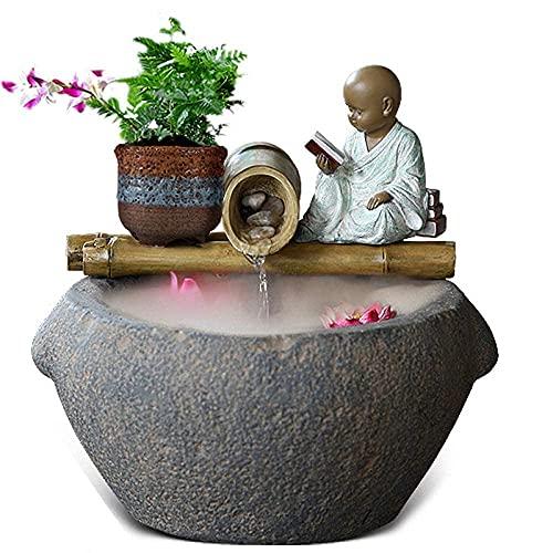 YYAI-HHJU Mini Escritorio De Fuente Zen De 5 Niveles para Jardín De Descenso Escarpado Al Aire Libre