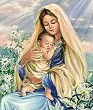 AQjept Puzzle 1000 Piezas_Niño Virgen Maria_Juego de Habilidad para Toda la Familia Colorido Juego de Rompecabezas_Rompecabezas Imposible_50x75cm(19.68x29.52 in)